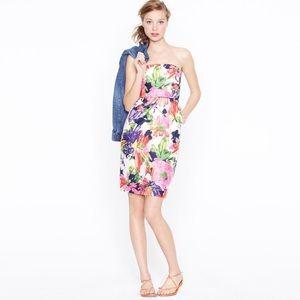J.Crew Ella Garden Floral Strapless Dress Size 10
